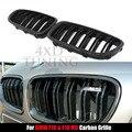 5 M Série grade De Carbono 2010 2011 2012 2013 2014 2015 2016 para BMW f10 & f10 m5 grade frontal em fibra de carbono preto brilhante acabamento