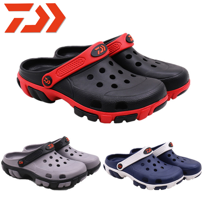 2019 Daiwa Men Summer Beach Slipper Outdoor Shoes Fishing Slippers New DAWA Fishing Shoes Breathable Sandals Soft Water Shoes