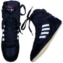 Мужская обувь для борьбы из бычьей кожи, высокие ботинки для бокса, резиновая подошва, дышащая, профессиональная экипировка для борьбы для мужчин и женщин, boxeo W0II