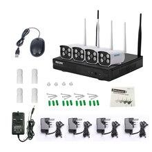 ESCAM WNK403 4CH Wi-fi CCTV System 720P HD NVR equipment  IR Night time IP Digital camera wifi Digital camera Safety System Surveillance Kits