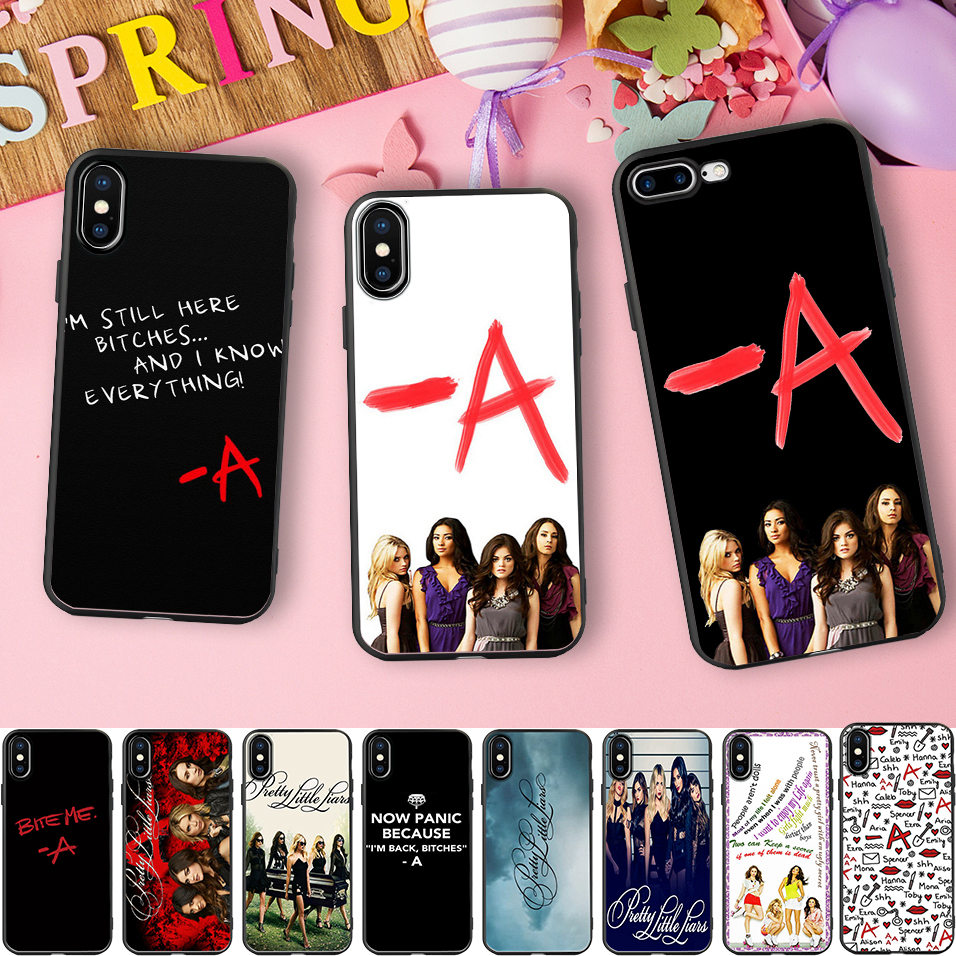 Pretty Little Liars Black Wrapped Borders Soft Silicone Phone Case for iPhone X 5 S 5S XR XS Max SE 6 6S 7 8 Plus Cover