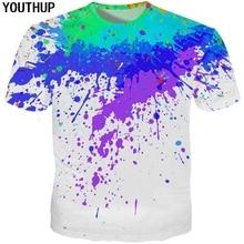 6326a914 YOUTHUP 2018 Colorful 3D T Shirt For Men/Women Splatter Paint Dot Print  Funny T