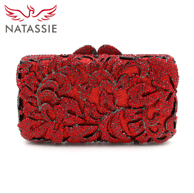 Aliexpress.com : Buy NATASSIE 2017 NEW Women Red Clutch Bag Ladies ...