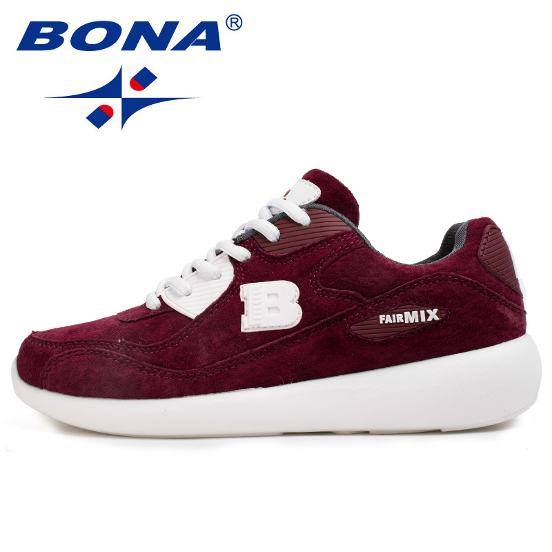 BONA New Basic Style Women Running Shoes Cow Leather Sport Shoes Outdoor Jogging Walking Sneakers Comfortable Athletic Shoes camel shoes 2016 women outdoor running shoes new design sport shoes a61397620