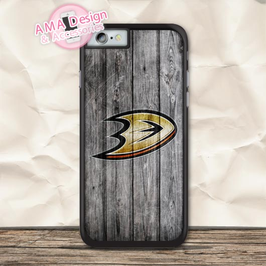 Anaheim Ducks Ice Hockey Protective Case For iPhone X 8 7 6 6s Plus 5 5s SE 5c 4 4s For iPod Touch