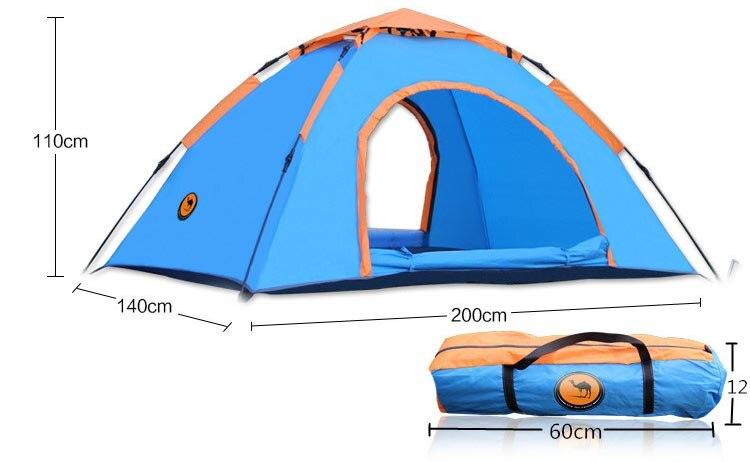 Бесплатная доставка костюм 1 2 человек Кемпинг Палатка Водонепроницаемый баррака палатка синий и серебряный naturehike палатка 2,5 кг - 4