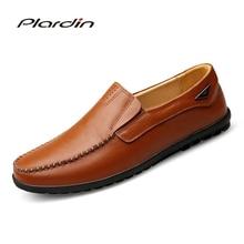 Plardin/Новая Всесезонная мода плюс Размеры человек Разделение мягкие удобное платье Вышивание украшения из металла мужские туфли из натуральной кожи