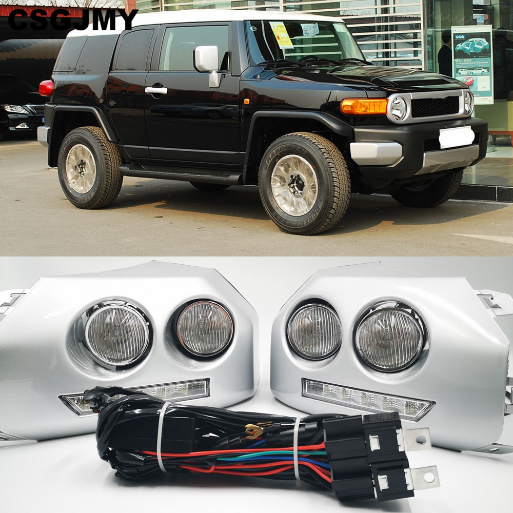 1Pair Car LED DRL Daytime running light for Toyota Fj Cruiser 2007 2008 2009 2010 2011