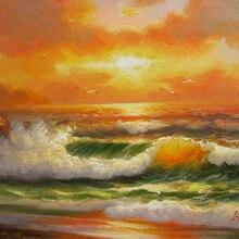 Ручная роспись Картина маслом в стиле импрессионизма морской волны № 30 украшения дома стены искусства Прямая