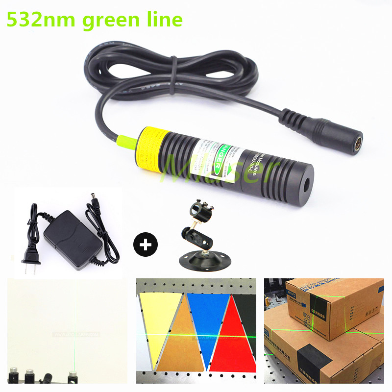 532nm 10mw 20mw 30mw 50mw  Laser Line Module for Clothes Cutting / Wood Cutting Mechanical Positioning focusable 850nm 100mw ir infrared laser line module diode 22x77mm for wood cutting mechanical positioning