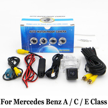 For Mercedes Benz A Class W176 / C Class W204 / E Class W212 W207 C207 / RCA AUX Wire Or Wireless Auto Rearview Parking Camera