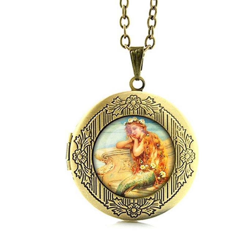 Elegant Mermaid Locket Necklace