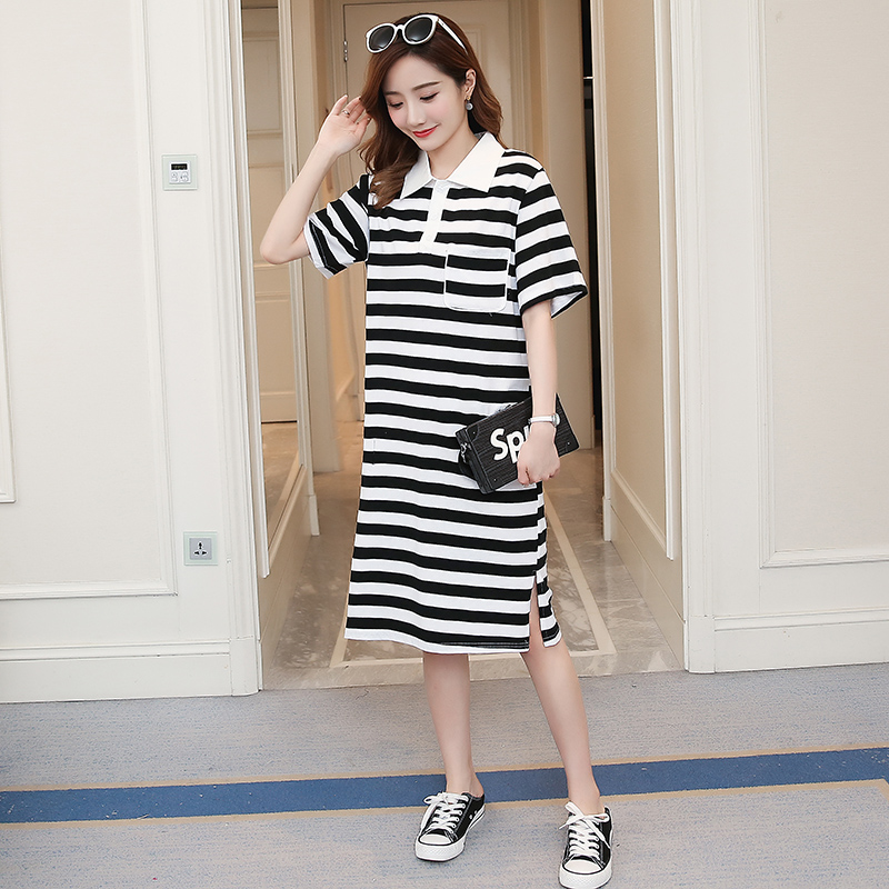Summer Maternity Clothing Striped Novelty Pregnancy Dress Fashion Patchwork Cotton Maternity Clothes For Pregnant Women