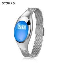 Scomas Для женщин Мода Смарт часы с Приборы для измерения артериального давления сердечного ритма Мониторы шагомер Фитнес трекер Браслет для iOS и Android
