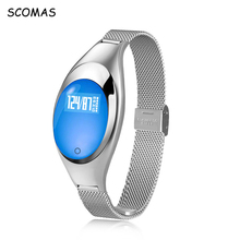 SCOMAS Women Fashion Smart Watch With Blood Pressure Heart Rate Monitor Pedometer Fitness Tracker Wristband For Android IOS