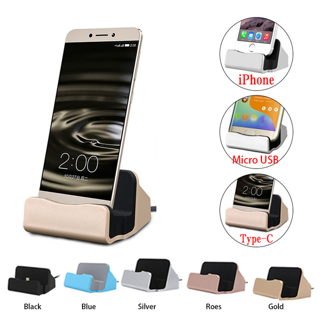 Original USB cable Data Sync Charger Dock Stand Station Charging Android Type C iOS For iPhone 6 7 8 X Samsung S xiaomi huawei