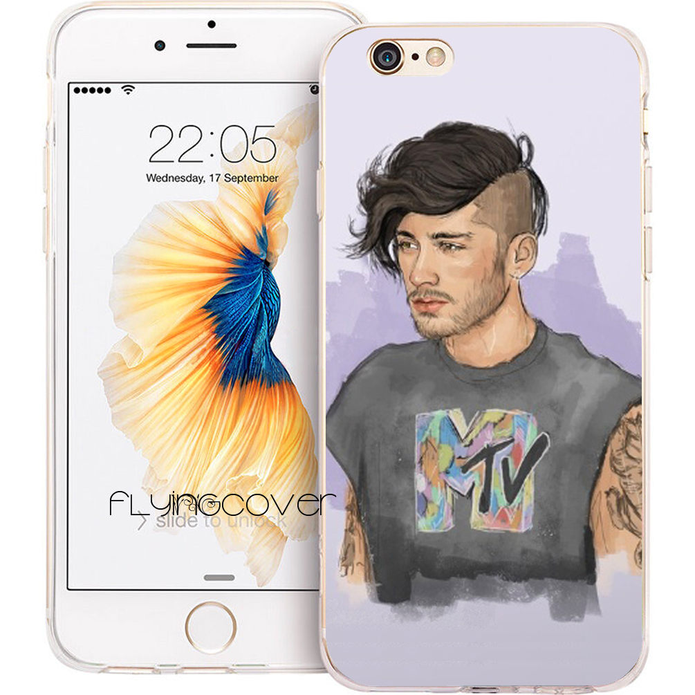 Coque Capa Zayn Malik Transparent Soft TPU Silicone Phone Cover for iPhone 7 7Plus Case for iPhone 5S 5 SE 6 6S 6Plus 4S 4 Case. ...