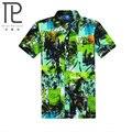 Tropical Havaiano Camisas Casuais dos homens Floral Completa Manga Curta Praia Casual Camisas da Festa Tops secagem Rápida Tamanho Asiático L-5XL