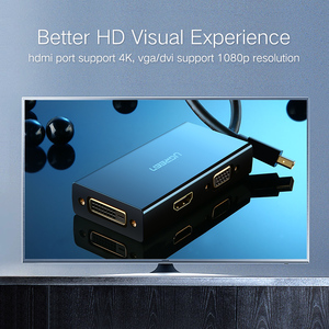 Image 3 - Адаптер Ugreen Mini DisplayPort к HDMI VGA DVI, конвертер Thunderbolt 2 HDMI Mini DP для Surface Pro 4 Mini DisplayPort