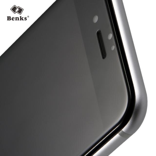Benks 7/7 plus 3d curvada protección de pantalla completa 0.4mm 9 h agc vidrio templado película del protector del teléfono móvil para iphone 7 plus negro