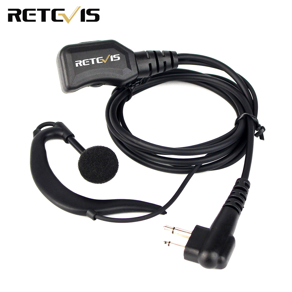 2 Pin Retevis R-111 PTT Earpiece For Motorola GP68/GP88/GP300/GP2000/HYT TC-500/TC-600 Radio Walkie Talkie Hf Transceiver C9037M