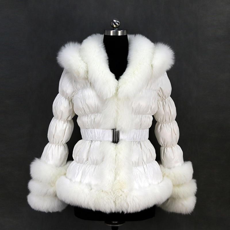doprava zdarma evropa zimní ženy populární vícebarevné spodní prádlo s liškovou kožichovou bundou