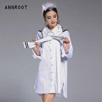 Annroot Высокое качество Женская рубашка черный белый коллокации весна лето новый раздел рубашка женская бутик Рубашка труба женские