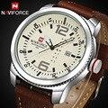 2017 luxo marca naviforce homens casuais relógio de quartzo-relógio do esporte dos homens relógios militares de couro dos homens relógio de pulso relogio masculino