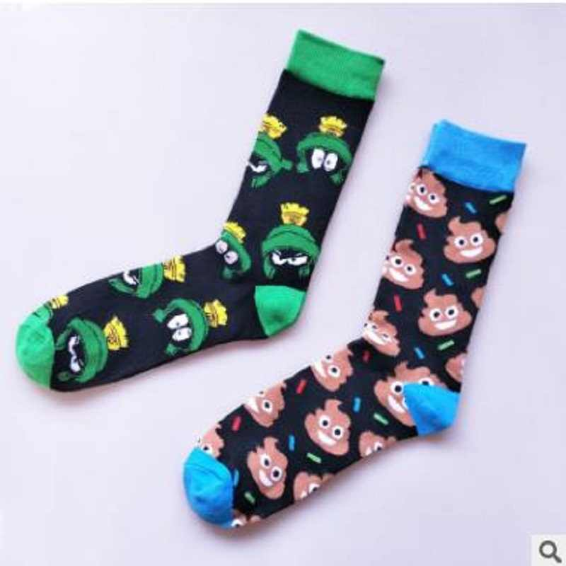 New European and American cartoon character men's tube socks