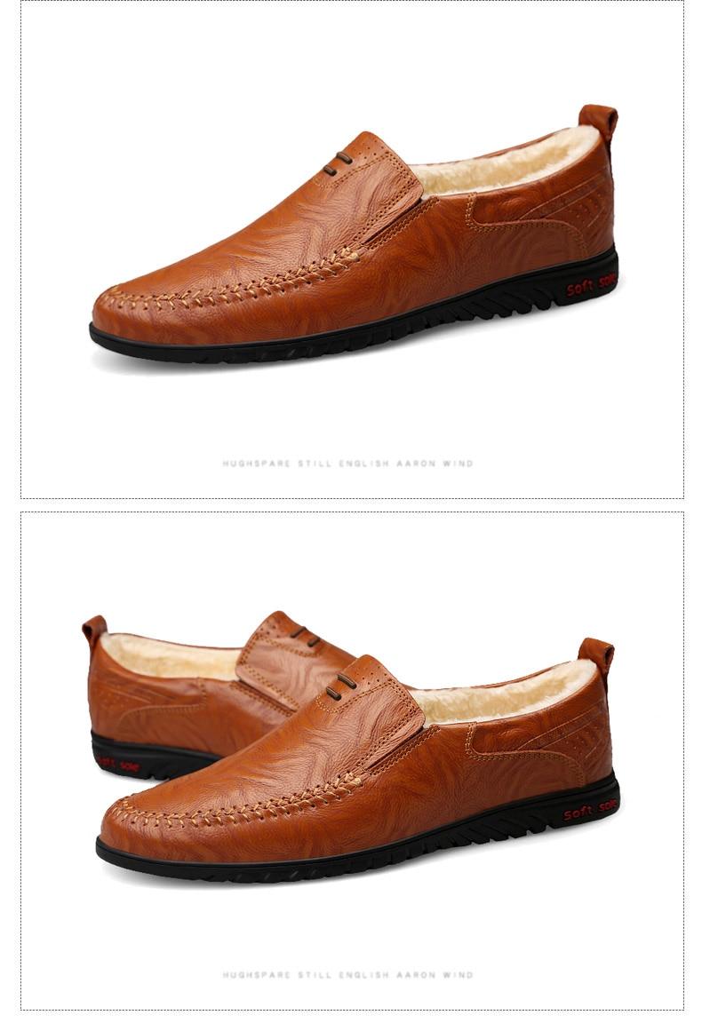 HTB1JEcgX5frK1RjSspbq6A4pFXaC DEKABR Men Shoes Genuine leather Comfortable Men Casual Shoes Footwear Chaussures Flats Men Slip On Lazy Shoes Zapatos Hombre