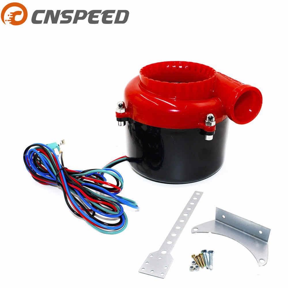 CNSPEED uniwersalny elektroniczny turbo samochód fałszywy zawór zrzutowy Turbo cios od zaworu dźwięku elektryczna turbo cios odcinający analogowy dźwięk BOV