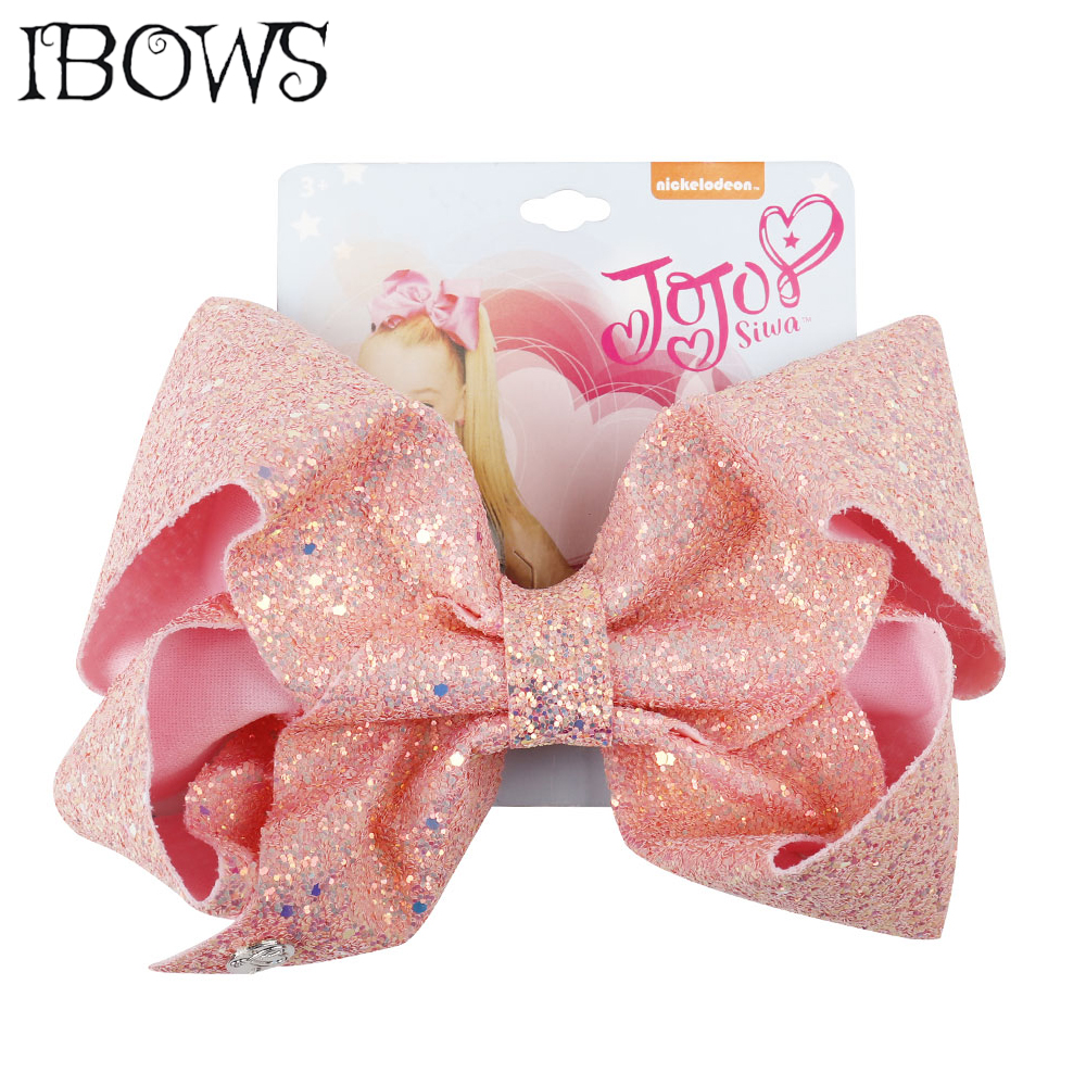 8 Inch Large Glitter Hair Bows Jumbo Bling Sequin Hair Clips For Teens Girls Hair Barrettes Handmade Boutique Hair Accessories
