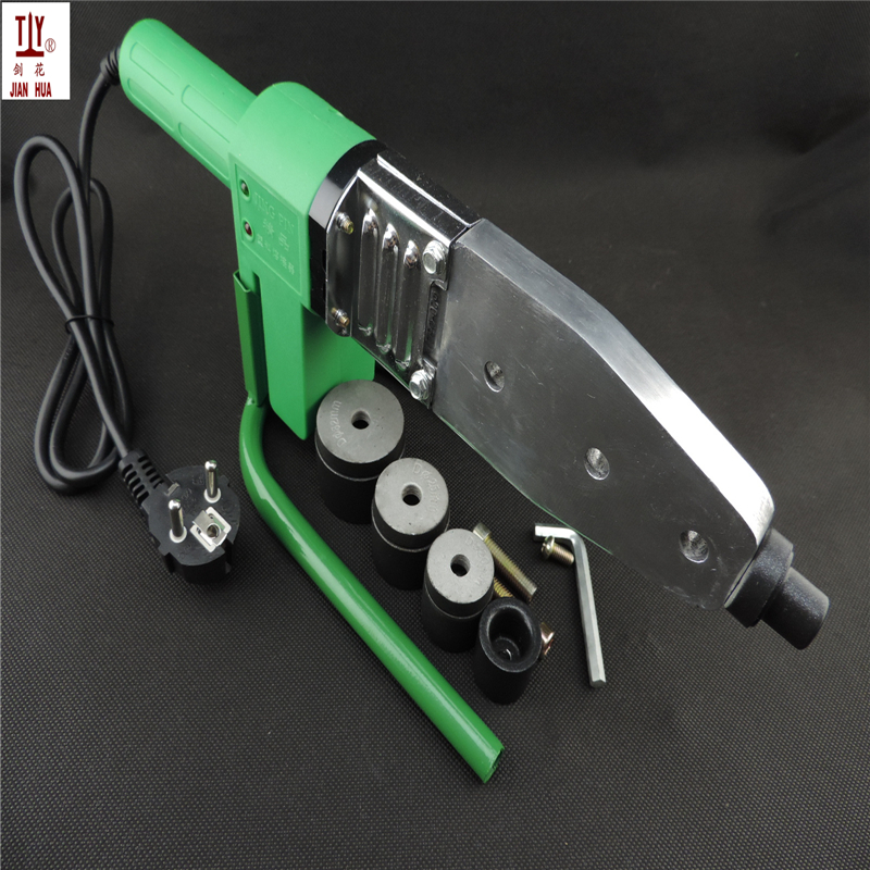 Teflon 4Sets Heads Heating Element 220V DN16-32mm Soldering Iron For Plastic Pipes, Automatic PPR Welding, Extruder For Plastic