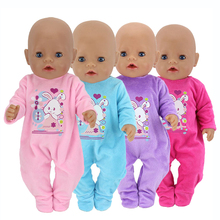 Cute Baby Toy Barbies Doll Clothes Newborn Baby Doll Clothes 43 cm Doll Climbing Romper Jumpsuit Children Girl Christmas Gifts keiumi real 22 inch newborn baby doll cloth body realistic lovely baby doll toy for children s day kid christmas xmas gifts