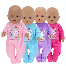 Cute Baby Toy Barbies Doll Clothes Newborn Baby Doll Clothes 43 cm Doll Climbing Romper Jumpsuit Children Girl Christmas Gifts(China)