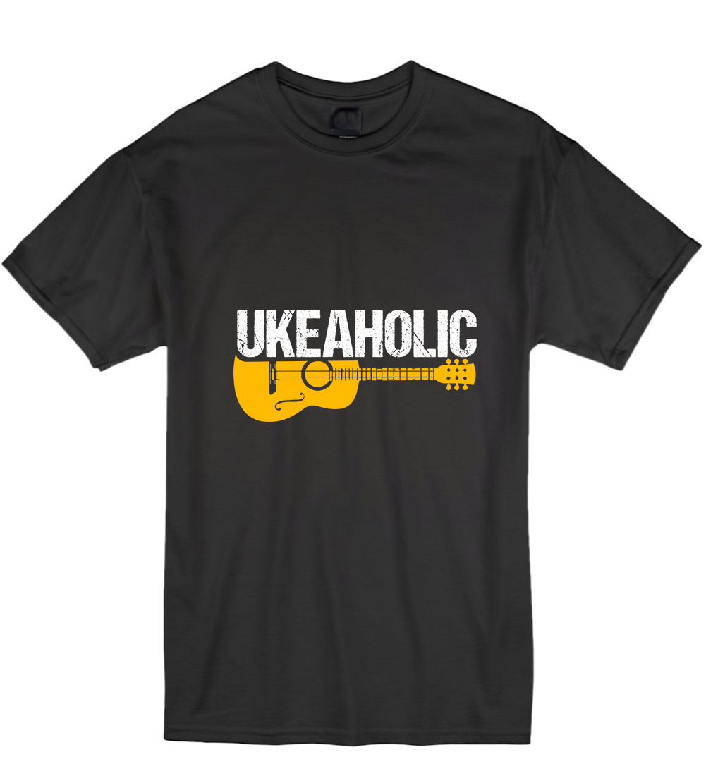 Ukeaholic Ukulele Ukelele Music Instrument Love T-Shirt Tshirt Mens Men T Shirt Short Sl ...