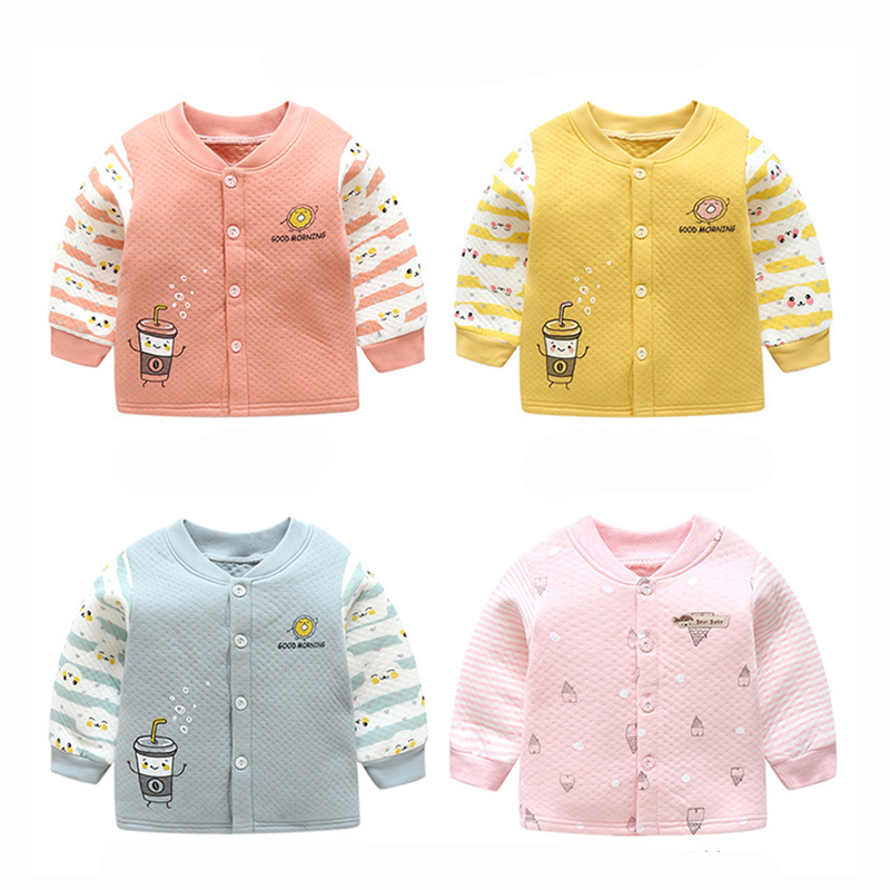 3af2e917f US $9.1 30% OFF|Newborn boy Girls Cotton T shirt Children Autumn Clothing  Long Sleeve Jackets Coats Tops Pullover Warm underwear Baby Clothes-in ...