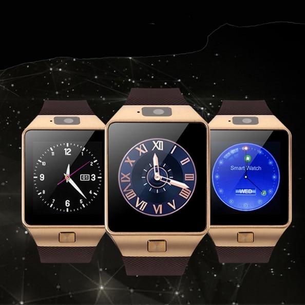 imágenes para 2017 hot dz09 bluetooth smart watch para el teléfono android soporte sim/tf hombres mujeres smartwatch reloj de pulsera del deporte en stock