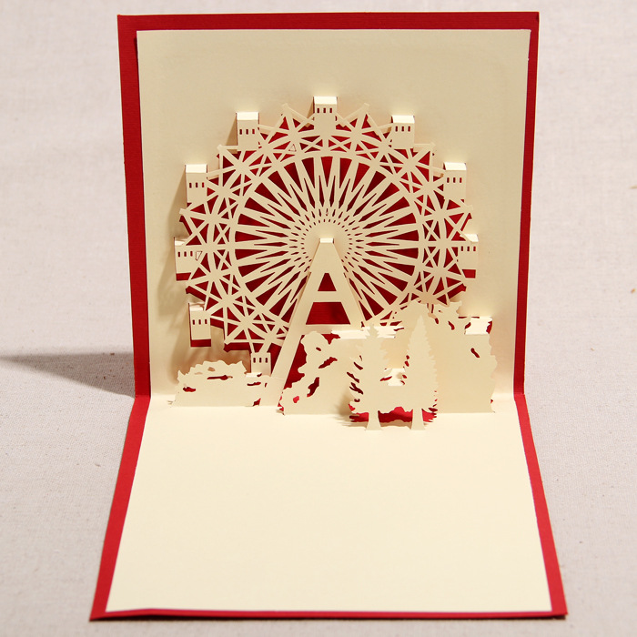 3d greeting card handmade 3d pop up ferris wheel greeting card 3d greeting card handmade 3d pop up ferris wheel greeting card with envelope christmas birthday favors on aliexpress alibaba group m4hsunfo