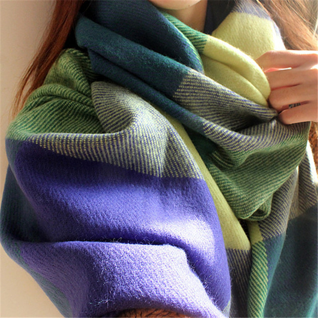 Winter Scarf Women Blanket Plaid Scarf Female Shawls And Scarves Warm Women Tippet Lic