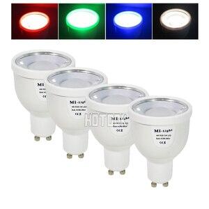 2.4G RGBW RGBWW GU10 AC85-265V Dimmable LED Spot Light Bulb Lamp / 2.4G Wireless Group Dimmer Remote / Mi Light Wifi Controller