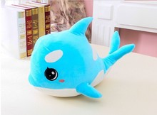small size lovely plush creative dolphin plush  toy cute dolphin doll about 45cm blue