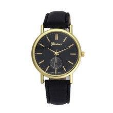 High Quality Fashion Casual Top Brand Female Watch Unisex Leather Band Analog Quartz WristWatch Watches Women's Women Watch