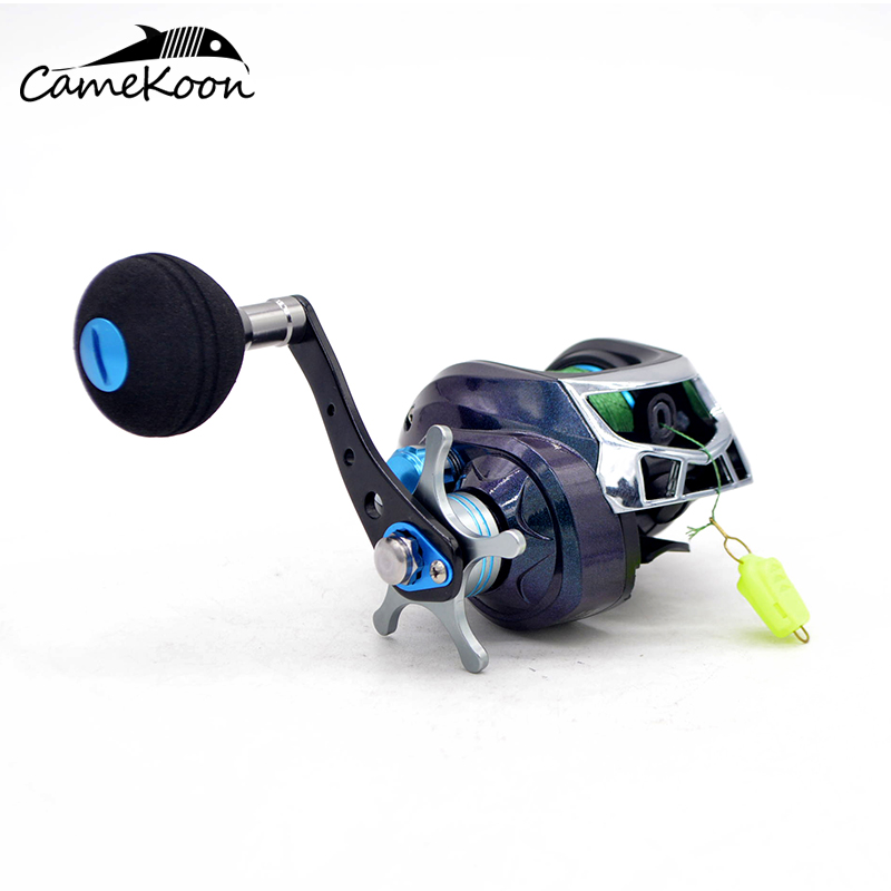 CAMEKOON Baitcast Fishing Reel, 7.1:1 Gear Ratio, Magnetic Brake System, Baitcasting Fishing Reel with PE Line #3-120m