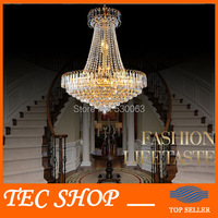 New Arrival Royal Empire Golden Crystal Chandelier Light Crystal Ceiling Pendant Lights Ceiling Lamp Free Shipping