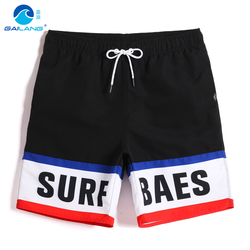 New Men's bathing suit sexy   board     shorts   hawaiian bermudas surfboard beach   shorts   swimsuit drawstring joggers mesh