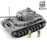 Military World War Weapon Armed Tank Building Blocks Army Soldier Figures Compatible Legoed City WW2 Bricks Children Toys Gifts