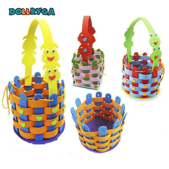 Diy Applique Basket Kids Children Handmade Non Woven Soft Eva