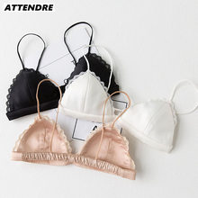 Comfortable wireless bra Tanks Fine Straps Crop top Lace Small Bust bralette Strapless Bra Sexy lingerie Women Harness Vest