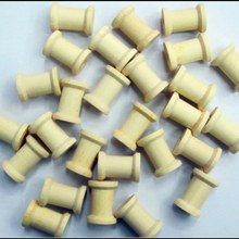 Free Shipping wholesale  2.5cm Natural color Wooden Bobine Classic style DIY tool wood roll Spool 100pcs 15006002001